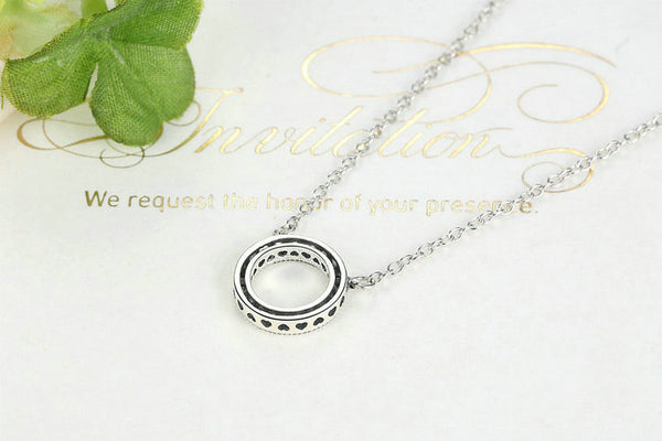 925 Sterling Silver Lucky Circle Necklace - ALLUNIK SHOP