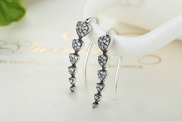 925 Sterling Silver Triangle Dipper Hook Earrings - ALLUNIK SHOP