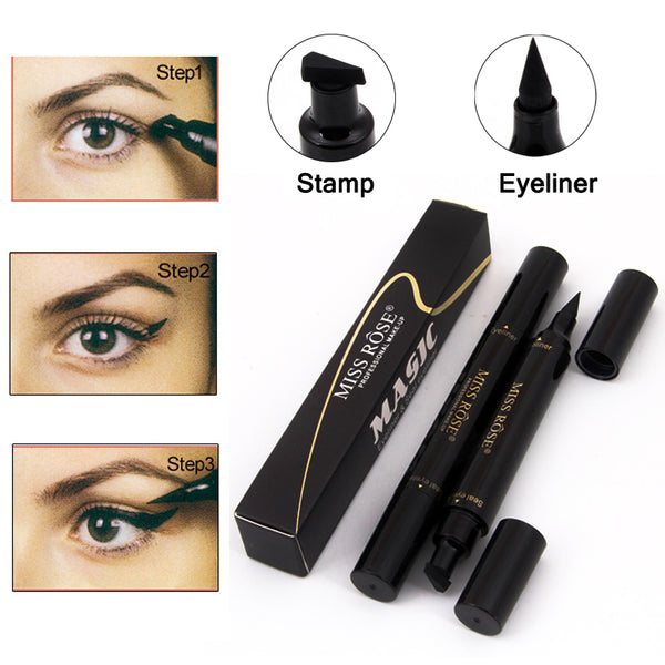 2 in 1 Stamp Liquid Eyeliner Pencil Waterproof - ALLUNIK SHOP