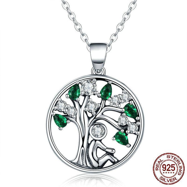 925 Sterling Silver Relying in the Tree Necklace - ALLUNIK SHOP