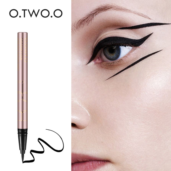 O.TWO.O  HIGH QUALITY Black Long-lasting Waterproof Liquid Eyeliner - ALLUNIK SHOP