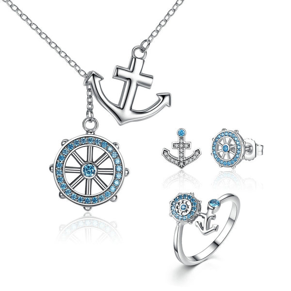 925 Sterling Silver Anchor Necklace - ALLUNIK SHOP