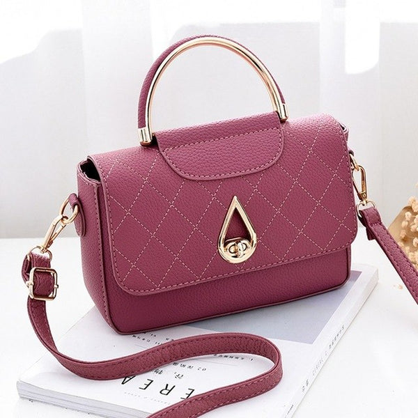 Ring Handle PU Leather Bag