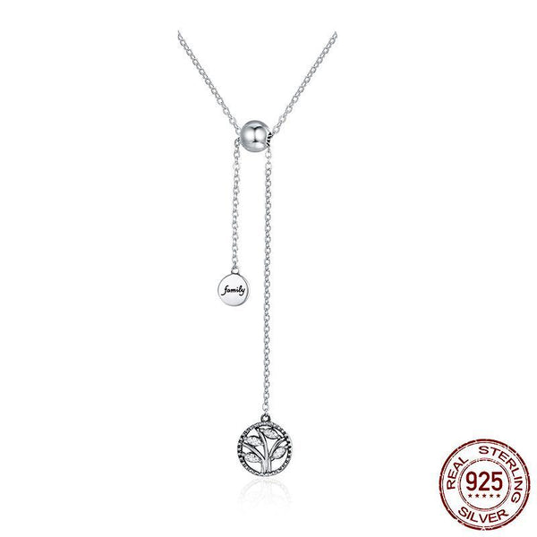 925 Sterling Silver Family Tree Necklace - ALLUNIK SHOP