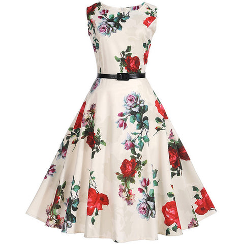 Plus Size 50s 60s Retro Swing Vintage floral Dress