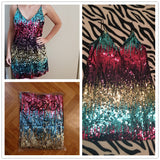 Colorful Sequin Party short dress - ALLUNIK SHOP