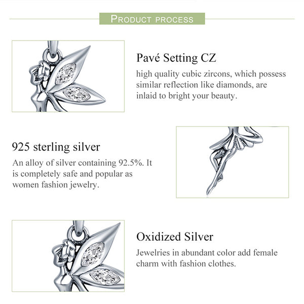 925 Sterling Silver Fairy Necklace - ALLUNIK SHOP