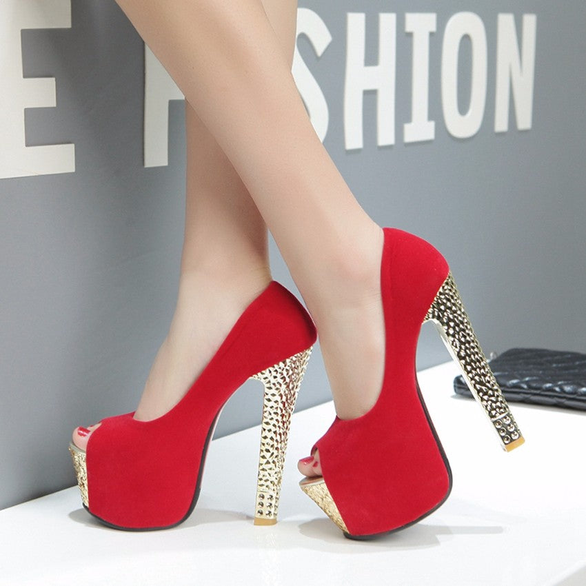 4ba87fd7ffa Peep Toe Fashion gold heel Platform red Pumps – ALLUNIK SHOP