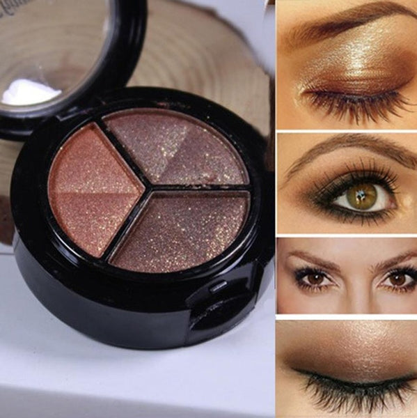 3 colours EyeShadow palette with mirror and brush - ALLUNIK SHOP