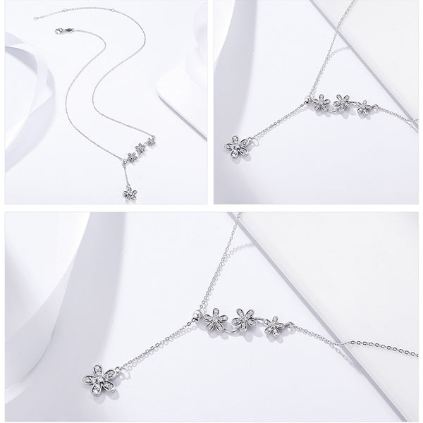925 Sterling Silver Daisy Flower Necklace - ALLUNIK SHOP