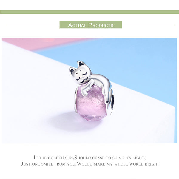 925 Sterling Silver Kitten  Charm - ALLUNIK SHOP