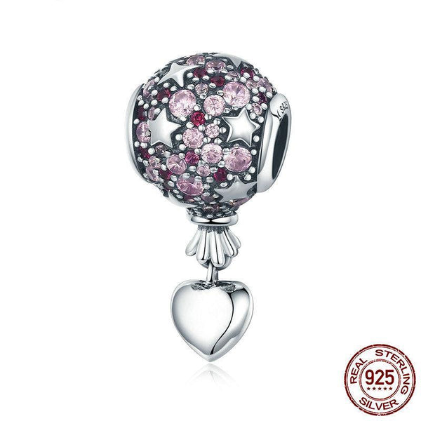 925 Sterling Silver Romantic Love Balloon Hot Air Charm - ALLUNIK SHOP