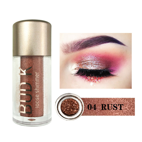 BUD K Glitter powder mettalic EyeShadow - ALLUNIK SHOP
