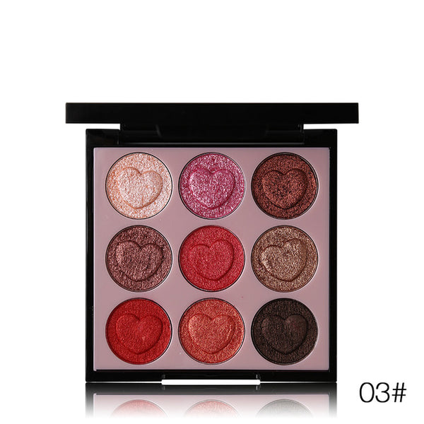 Hold Live 9 Colors Intense Eyeshadow Palette Shimmer - ALLUNIK SHOP