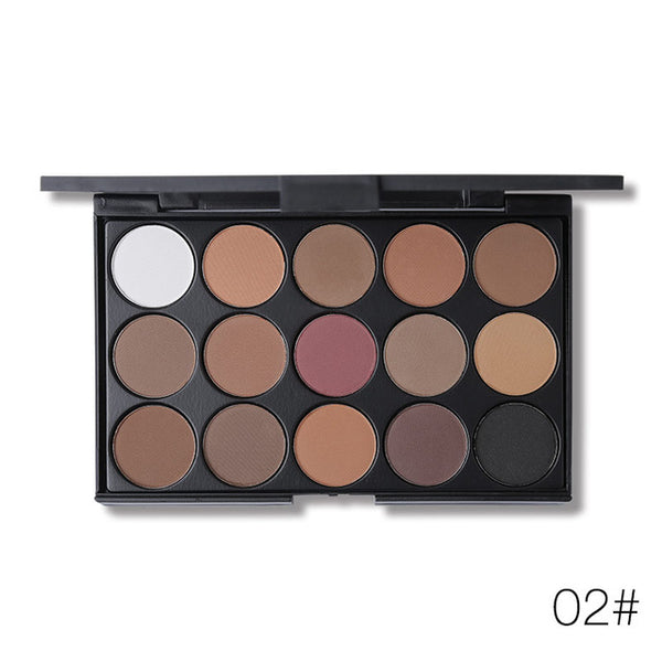 Ucanbe 15 Colours Matte Eyeshadow Palette - ALLUNIK SHOP