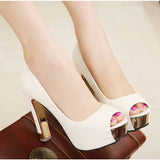 Peep toe Platform Comfortable Party high heels