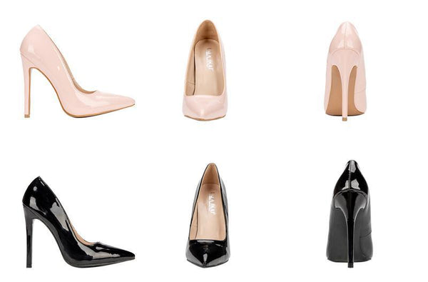 Gold Slip-On Pointed Toe Basic Pumps High Heels