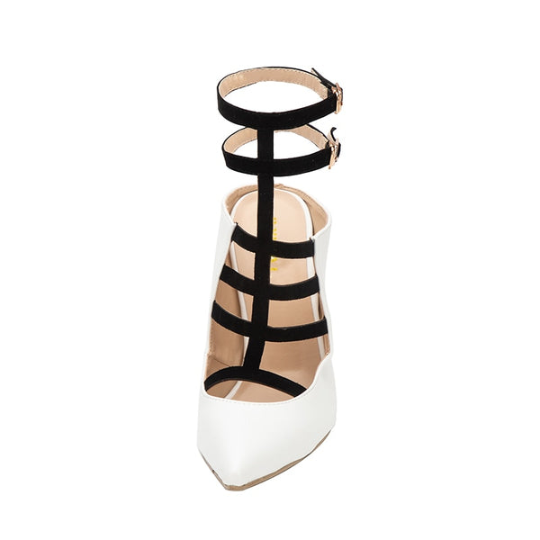 Narrow Band Buckle Strap Pointed Toe Thin Heel High heels