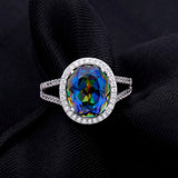Mystic Topaz-Blueish sterling silver Ring
