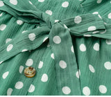 Ruffles Polka dots green dress