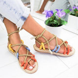 Flat rope sandals