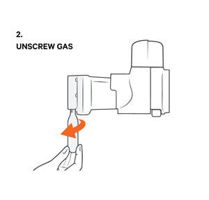 unscrew gas