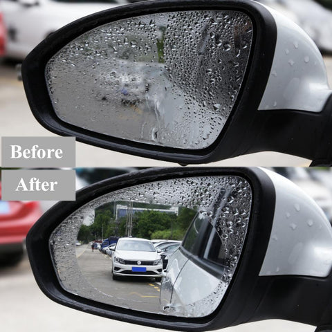 Nano Coated Water Repelling Mirror Sticker