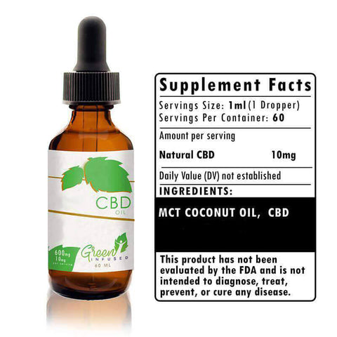 600 mg CBD Hemp Oil Extract Bottle