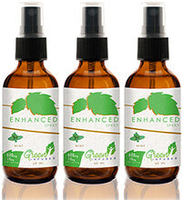 3 x Mint Enhanced Hemp Oil Spray Bundle