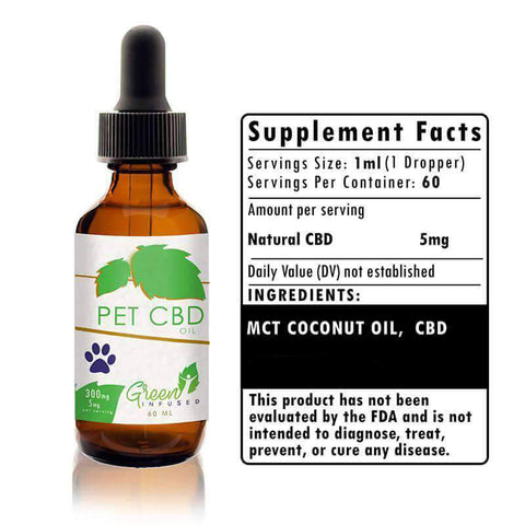 Image of 300 mg Pet CBD Hemp Oil Extract Bottle