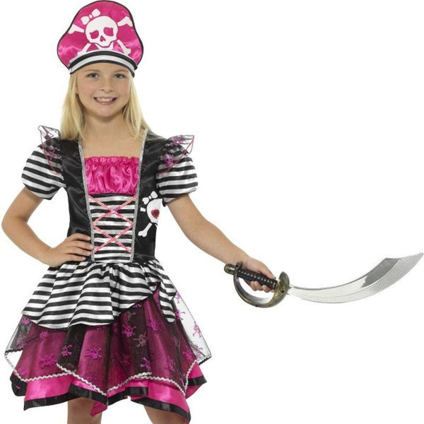 Perfect Pirate Girl Costume - Small Age 4-6