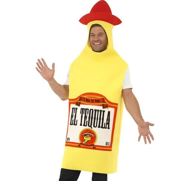 Tequila Bottle Costume - One Size Mens Yellow