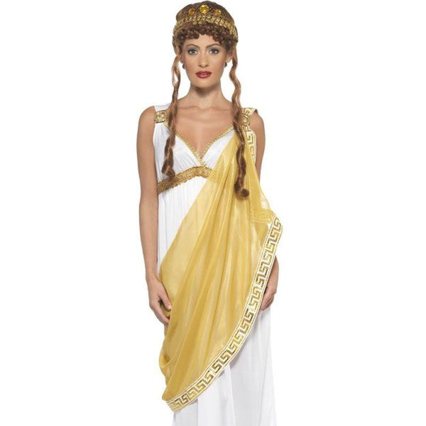 Helen of Troy Costume - UK Dress 8-10 Womens White/Yelllow