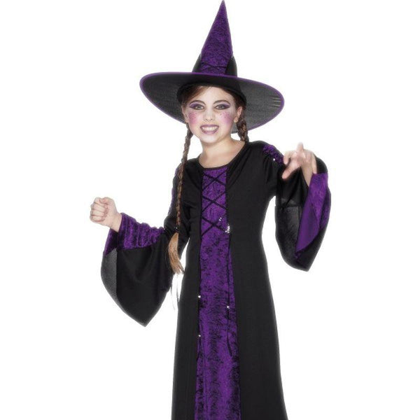 Bewitched Costume, Black and Purple - Medium Age 7-9 Girls Black/Purple