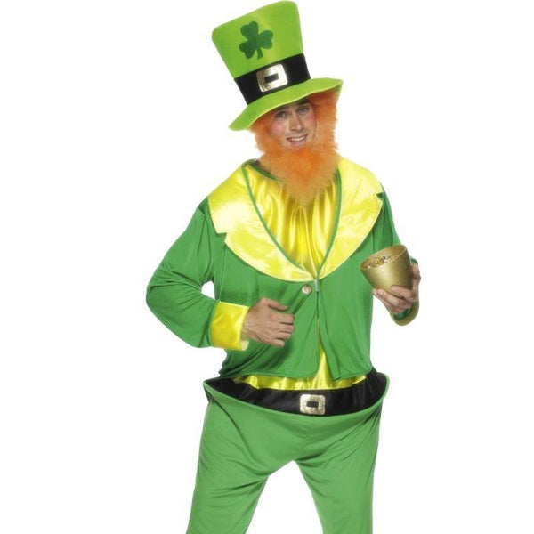 Leprechaun Costume - One Size Mens White/Red