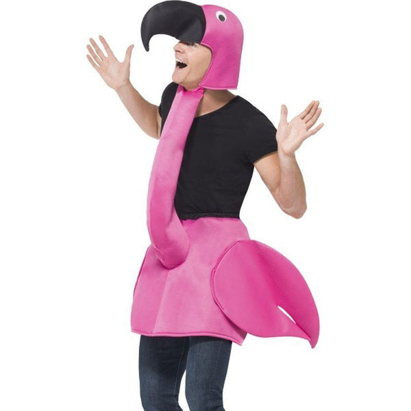 Flamingo Costume - One Size Mens Pink