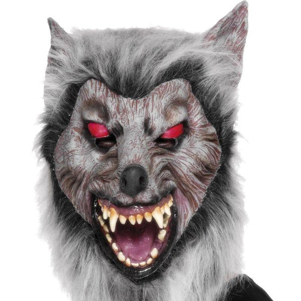 Prowler Wolf Mask - One Size Mens Grey