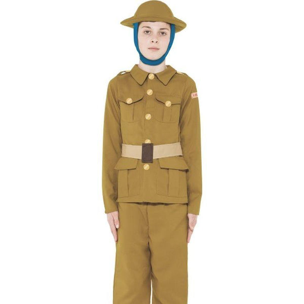 Horrible Histories WWI Boy Costume - Medium Age 7-9 Boys Tan