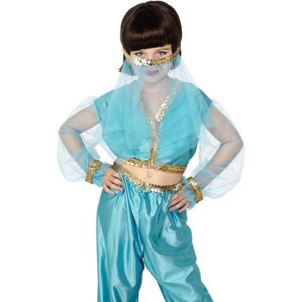 Arabian Princess Costume - Medium Age 6-8 Girls Blue
