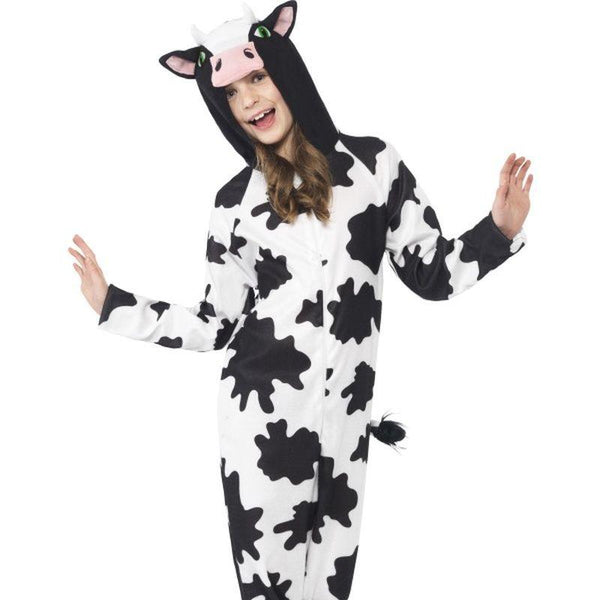 Cow Costume - Small Age 4-6 Boys White/Black