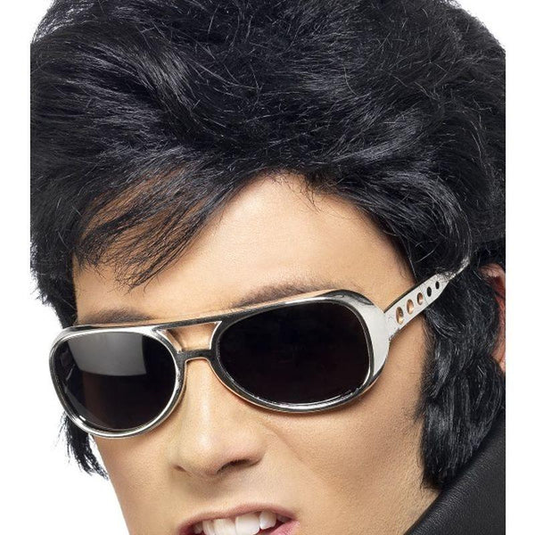 Elvis Shades - One Size Mens Silver