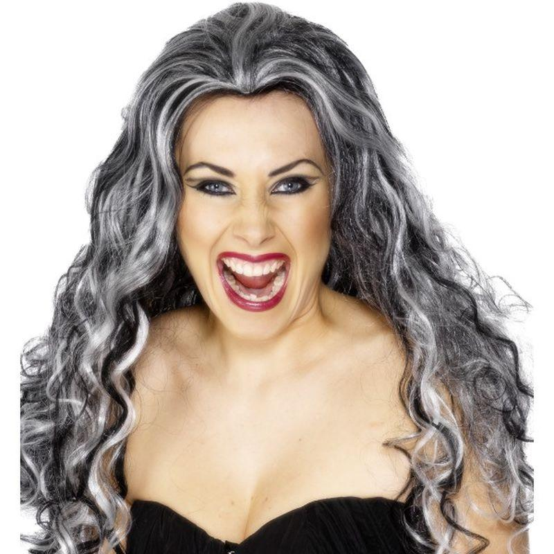 Renaissance Vamp Wig - One Size Womens Grey