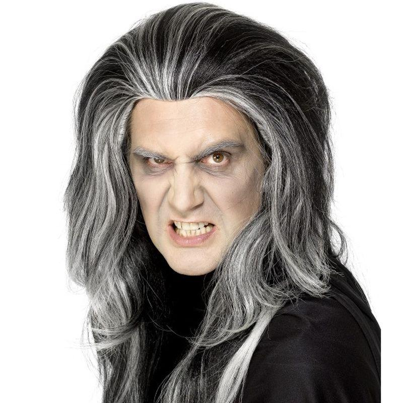Gothic Vampire Wig - One Size Mens Black