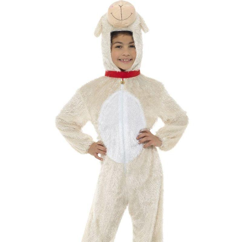 Lamb Costume, Medium - Medium Age 7-9 Boys Beige