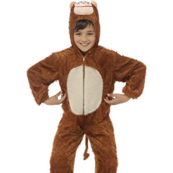 Monkey Costume, Medium - Medium Age 7-9 Boys Brown/White