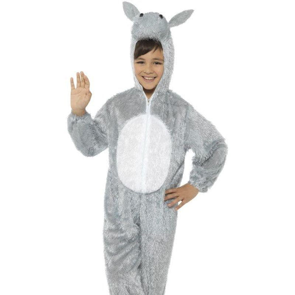 Donkey Costume, Medium - Medium Age 7-9 Boys Grey/White