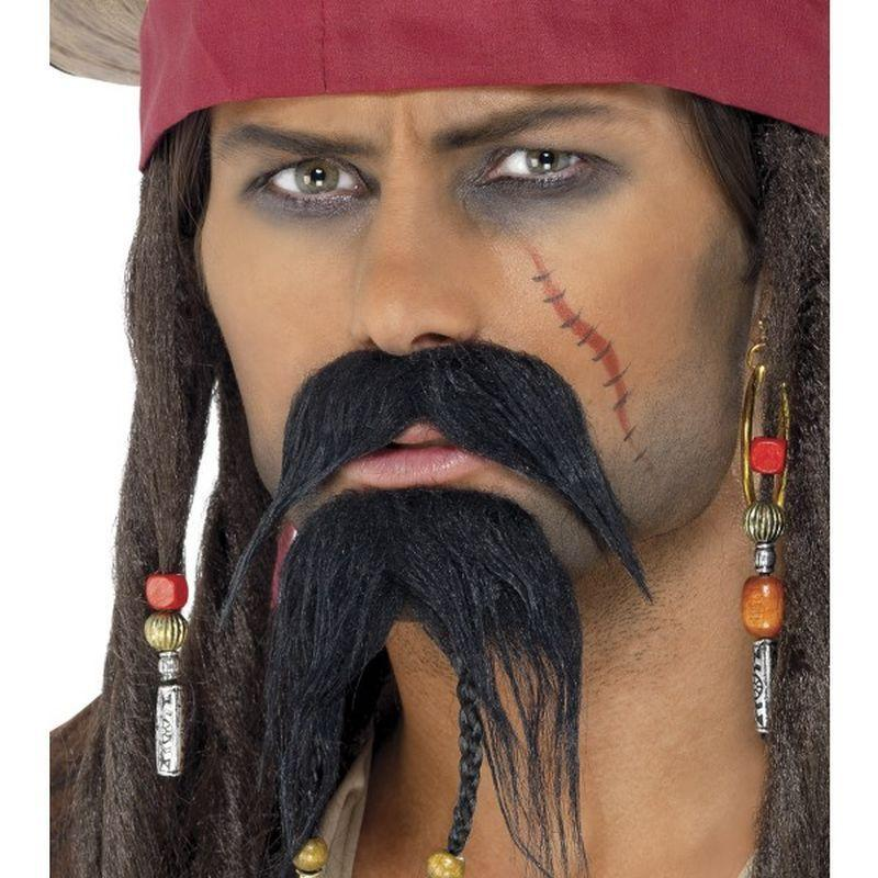 Pirate Facial Hair Set - One Size