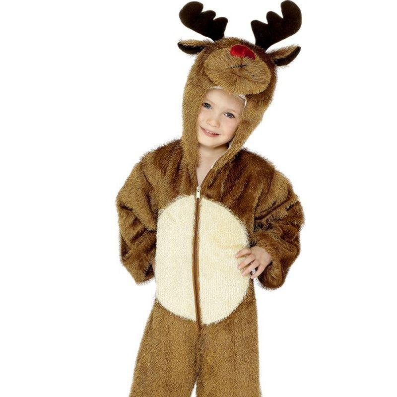 Reindeer Costume, Small - Small Age 4-6 Boys Brown