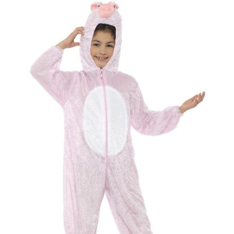 Pig Costume, Medium - Medium Age 7-9 Boys Pink