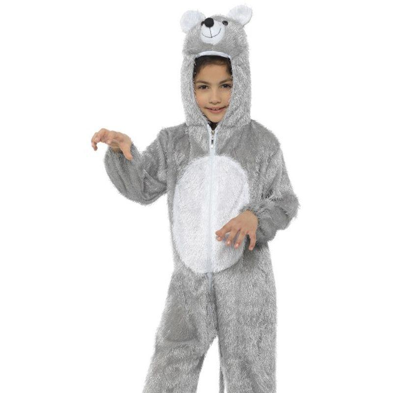 Mouse Costume, Medium - Medium Age 7-9 Boys Grey/White